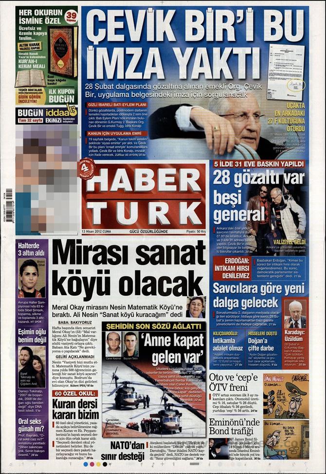 Gazete Manşetlerinde 28 Şubat Operasyonu 6