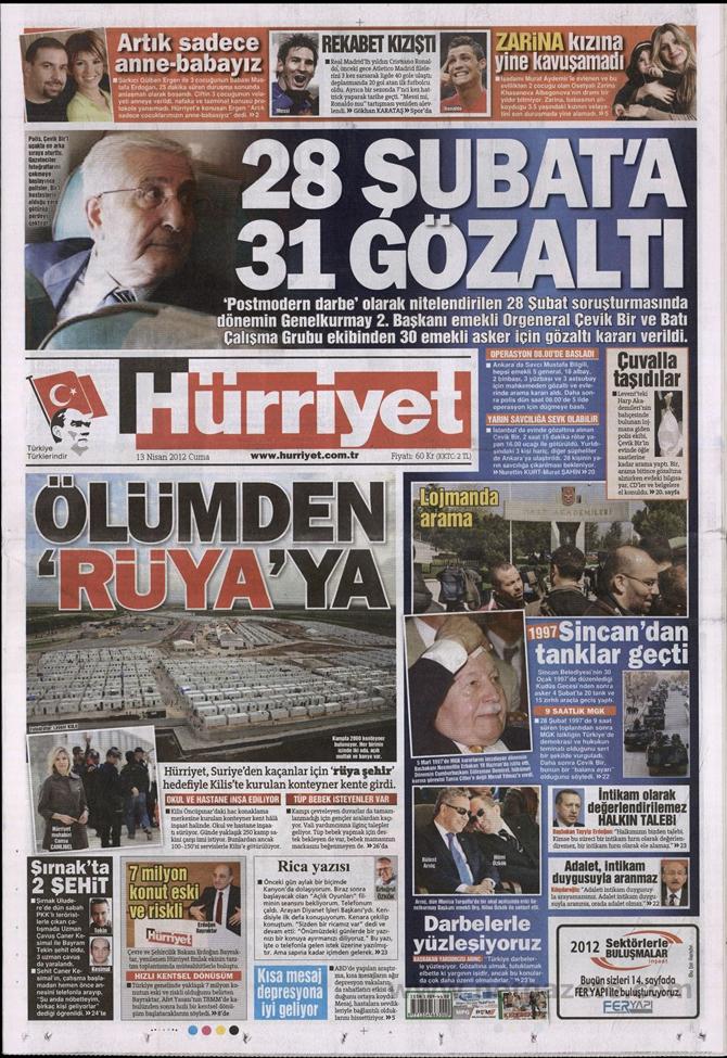 Gazete Manşetlerinde 28 Şubat Operasyonu 7