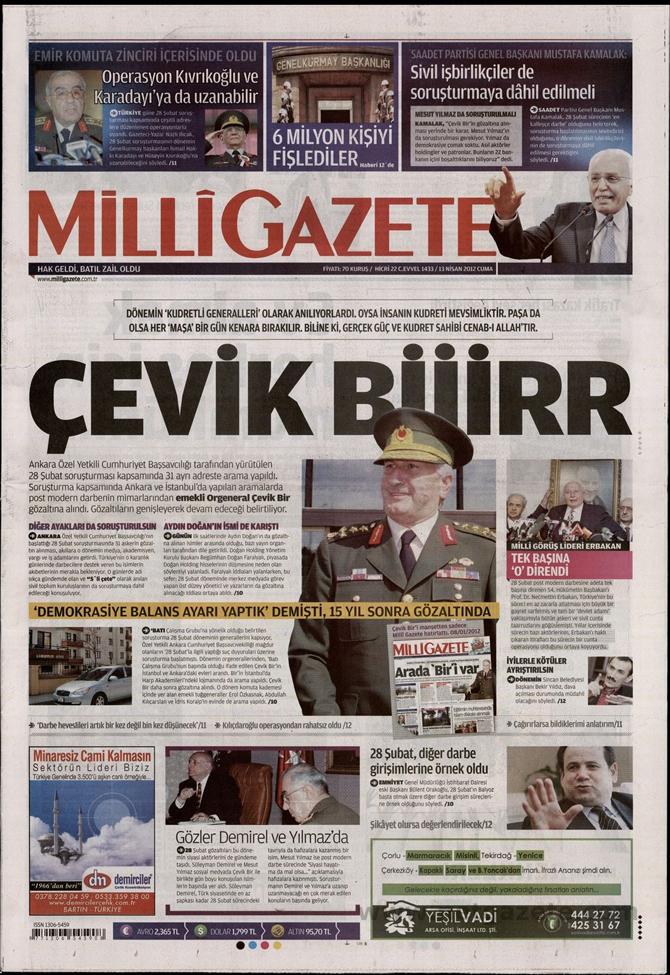 Gazete Manşetlerinde 28 Şubat Operasyonu 8