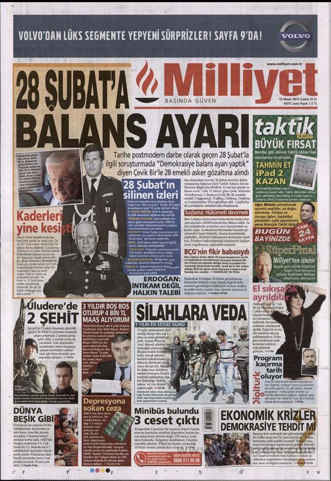 Gazete Manşetlerinde 28 Şubat Operasyonu 9
