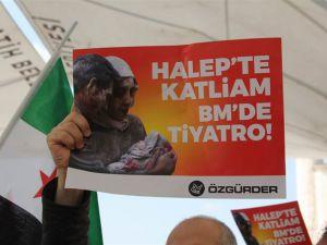 Halep Katliamı İstanbul'da Lanetlendi