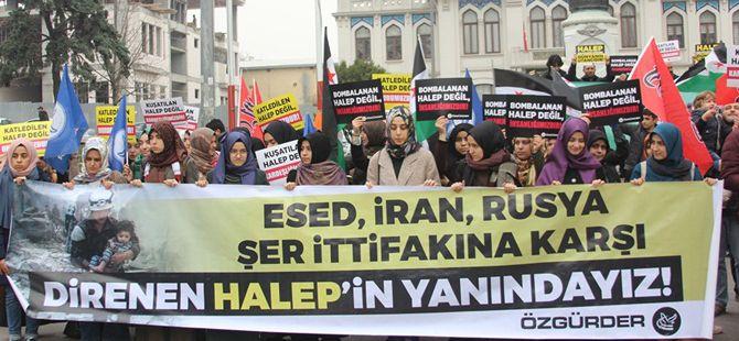 Halep'teki Katliamlar Fatih'de Lanetlendi!