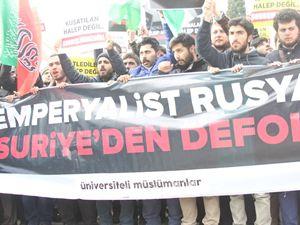 Üniversiteli Müslümanlar Halep İçin Beyazıt'ta Toplandı!