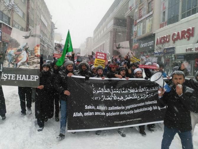 Katil İran Erzurum'da Protesto Edildi 1