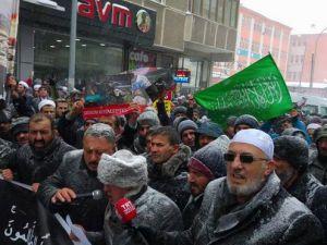 Katil İran Erzurum'da Protesto Edildi