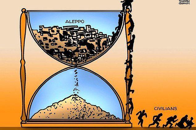 Dünyanın Halep'e Sessizliği Çizgilere Yansıdı 1
