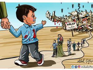 Halep'e Veda Ederken