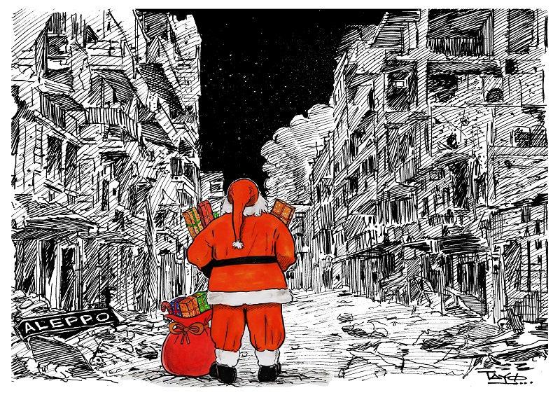 Batı'nın Noel Babası Halep'te 1