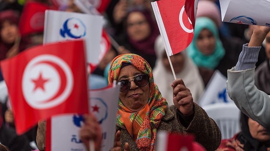 Tunus'ta Devrimin 6. Yılı Yürüyüşü 1