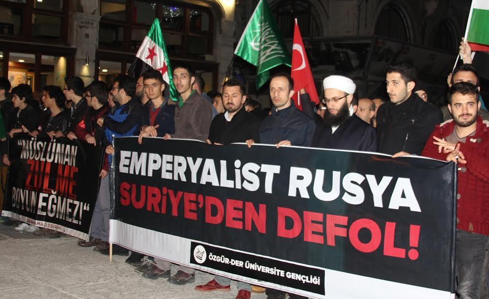 İdlip'teki Kimyasal Katliam Rusya Temsilciliği Önünde Protesto Edildi 1