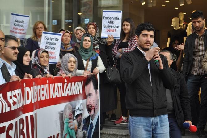 Diyarbakır'da İdlib'teki Katliamlar Lanetlendi 1