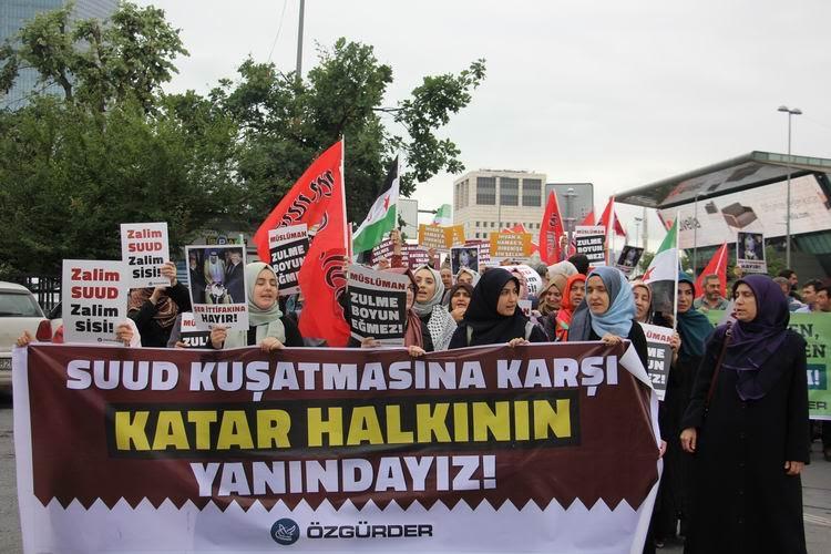 Katar'a Yönelik Kuşatma İstanbul'da Protesto Edildi 1