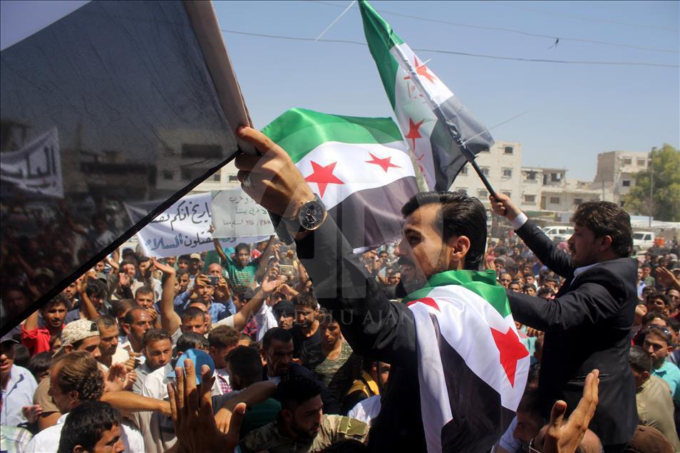 Suriye'de PKK/PYD Karşıtı Gösteriler 1