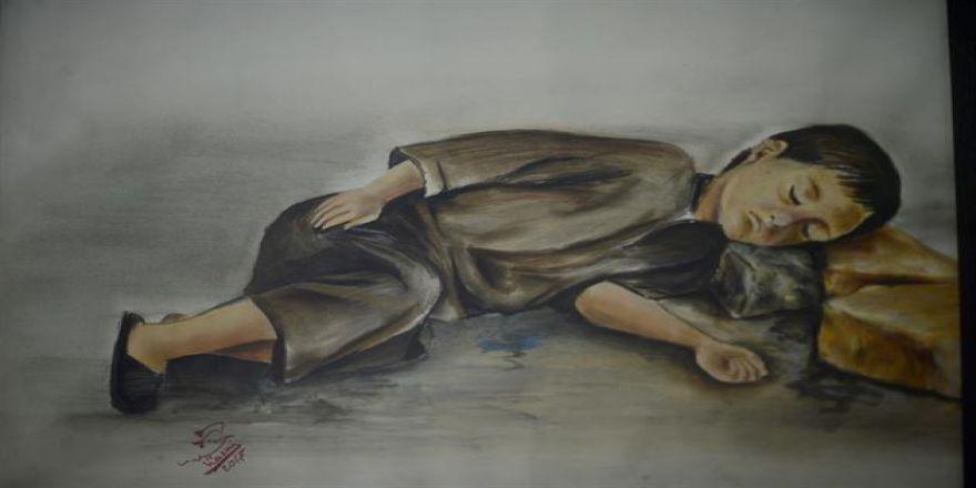 Suriyelilerin Acılarını Resme Döktü
