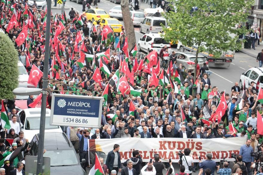 İstanbul Haykırdı: Kudüs Filistin'in Başkentidir! 1