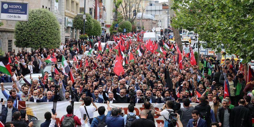 İstanbul Haykırdı: Kudüs Filistin'in Başkentidir!