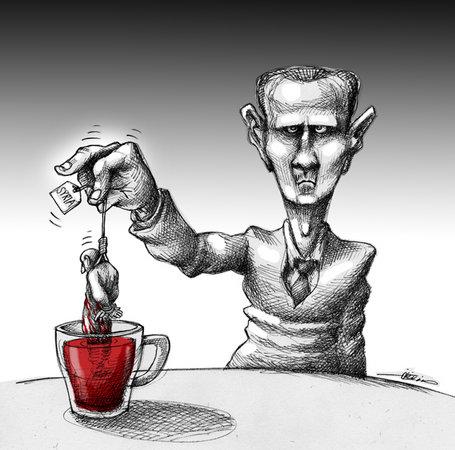 Beşşar Esedin Çay Keyfi! 1