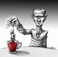 Beşşar Esedin Çay Keyfi!