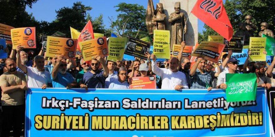 Muhacirlere Yönelik Irkçı Saldırılar Protesto Edildi