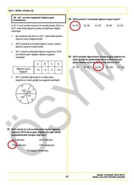 2012 KPSS Soru ve Cevapları 17