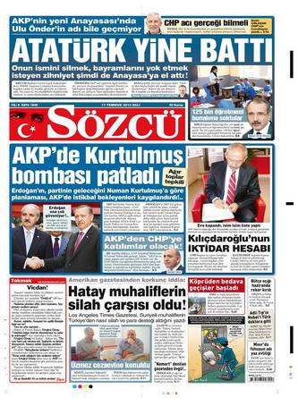 Gazete Manşetleri - 17 Temmuz 2012 13