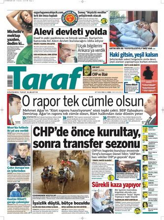 Gazete Manşetleri - 17 Temmuz 2012 16