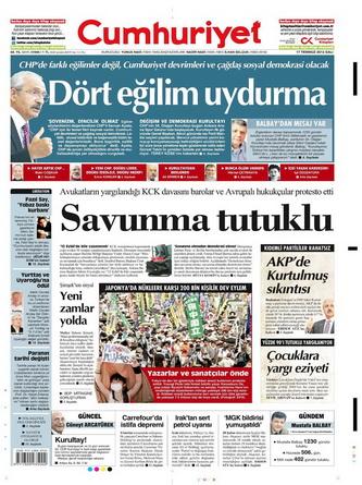 Gazete Manşetleri - 17 Temmuz 2012 4