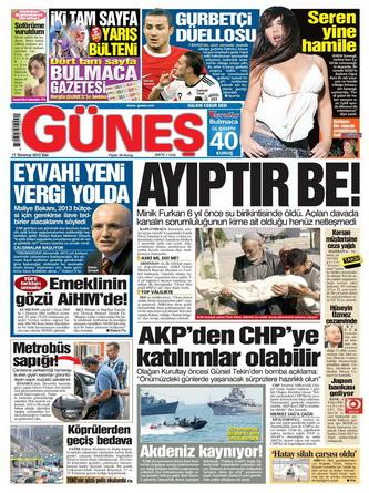 Gazete Manşetleri - 17 Temmuz 2012 5