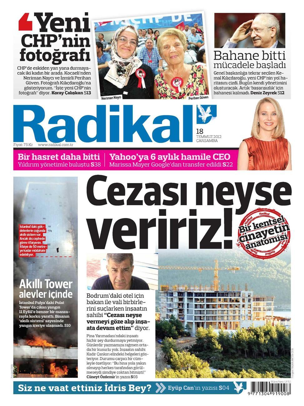 Gazete Manşetleri - 18 Temmuz 2012 10