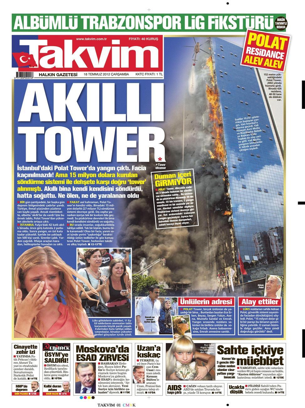 Gazete Manşetleri - 18 Temmuz 2012 14