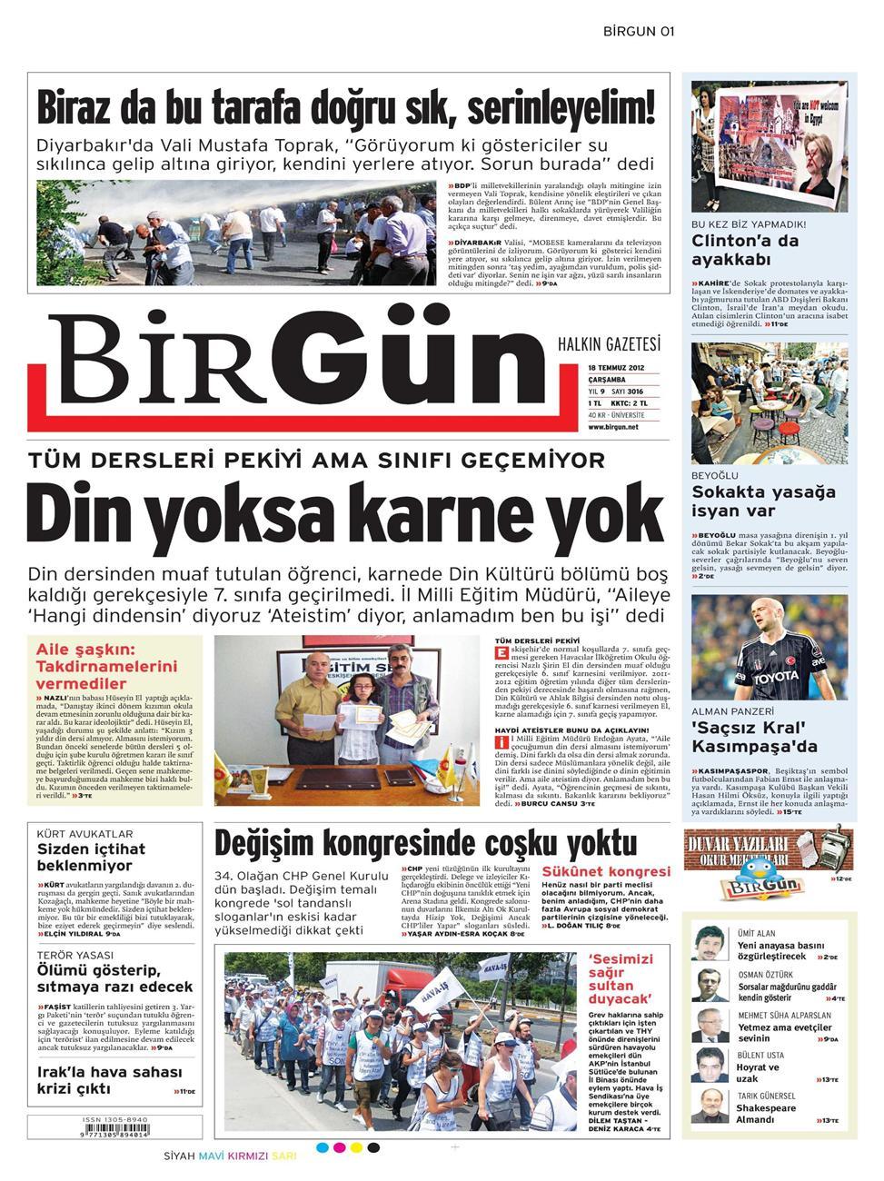 Gazete Manşetleri - 18 Temmuz 2012 2