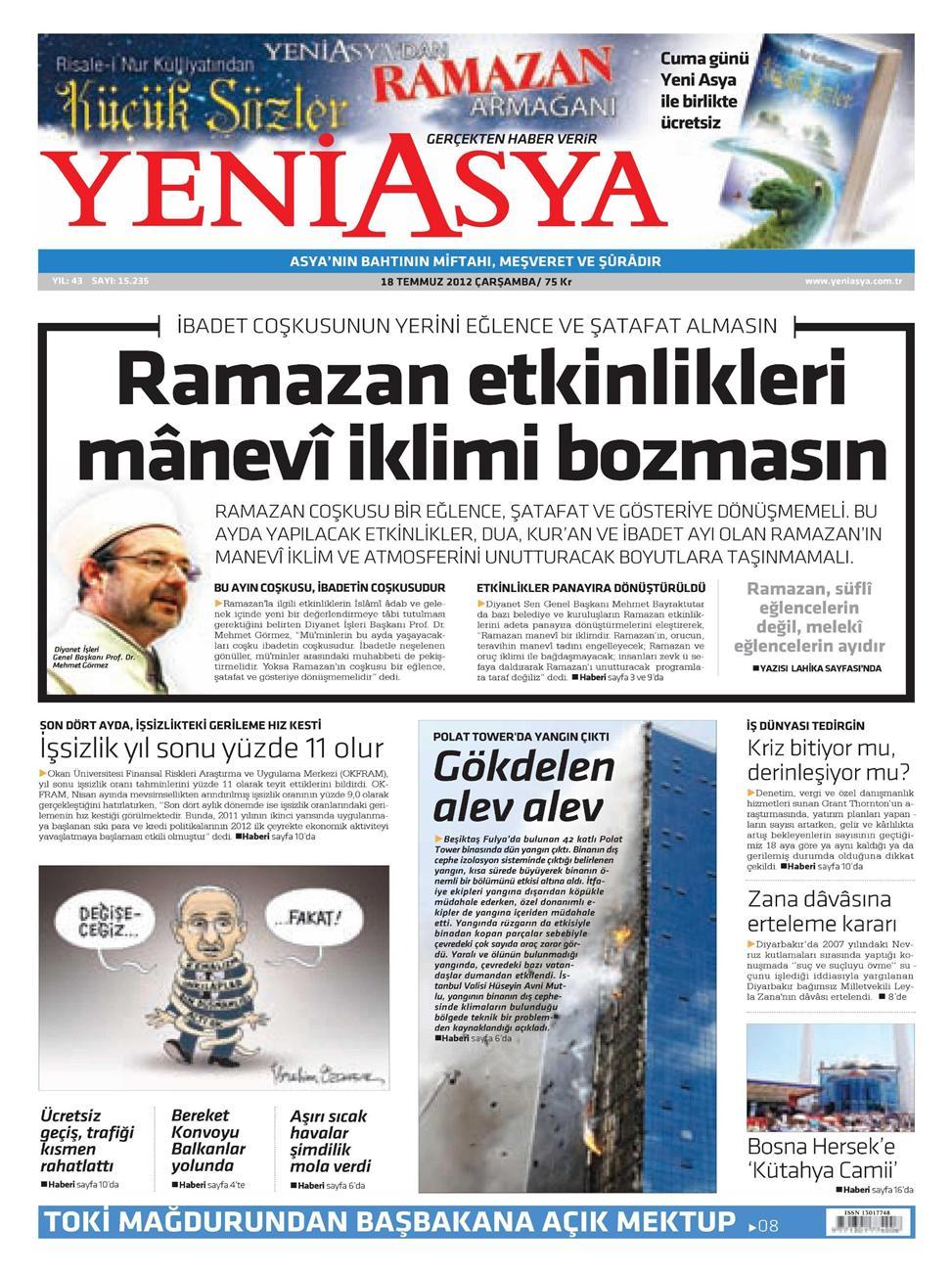Gazete Manşetleri - 18 Temmuz 2012 20