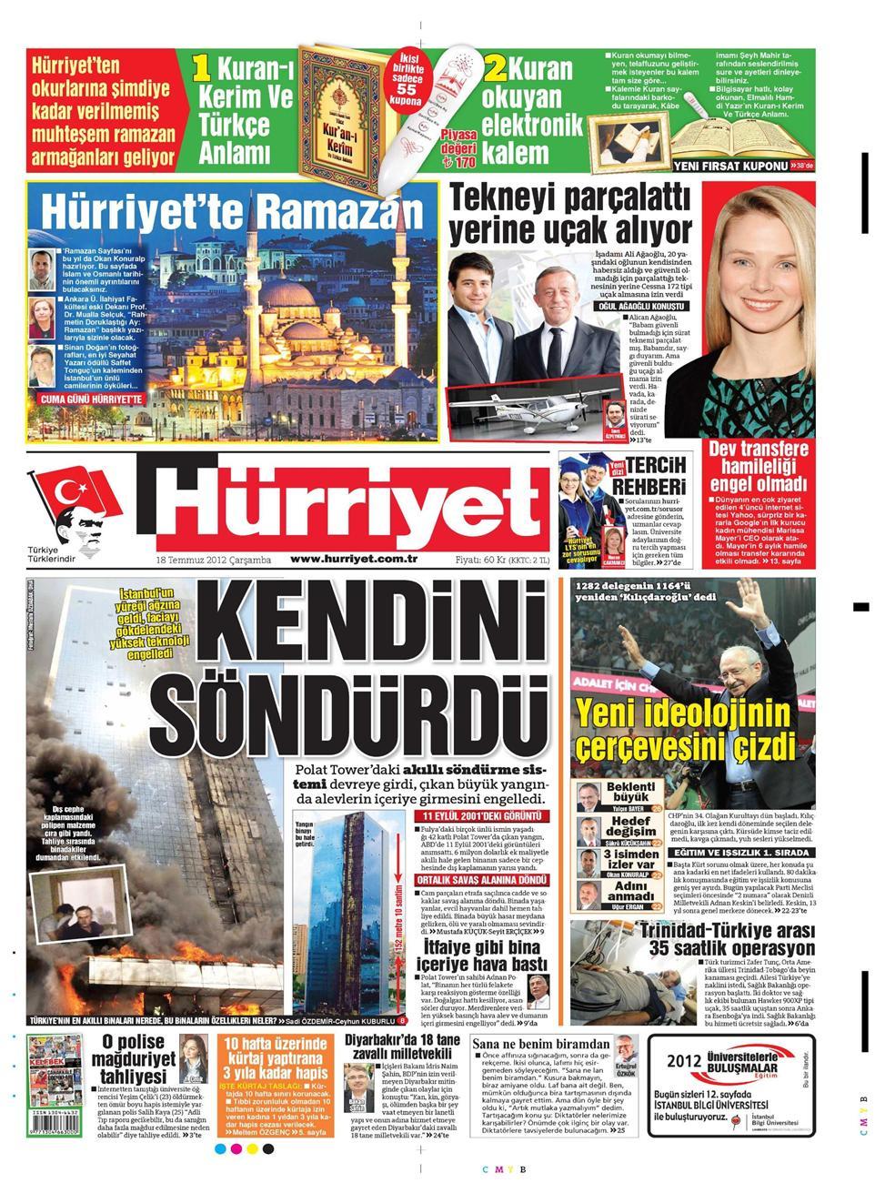 Gazete Manşetleri - 18 Temmuz 2012 6