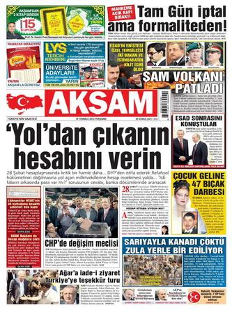 Gazete Manşetleri - 19 Temmuz 2012 1
