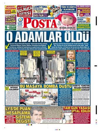 Gazete Manşetleri - 19 Temmuz 2012 11