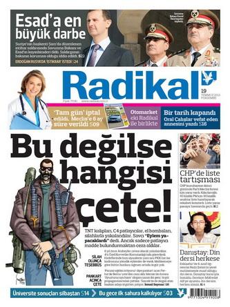 Gazete Manşetleri - 19 Temmuz 2012 12