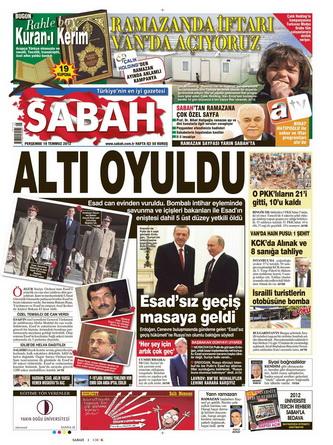 Gazete Manşetleri - 19 Temmuz 2012 13