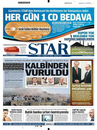 Gazete Manşetleri - 19 Temmuz 2012 15