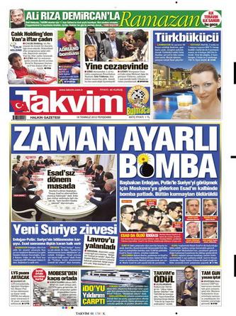 Gazete Manşetleri - 19 Temmuz 2012 16