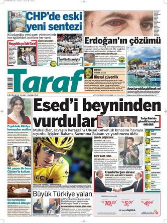 Gazete Manşetleri - 19 Temmuz 2012 18
