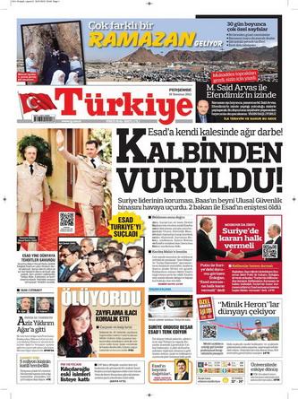 Gazete Manşetleri - 19 Temmuz 2012 19
