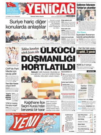 Gazete Manşetleri - 19 Temmuz 2012 20