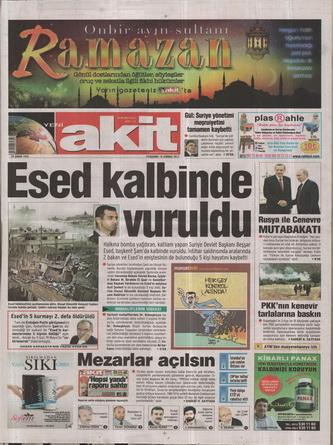 Gazete Manşetleri - 19 Temmuz 2012 22