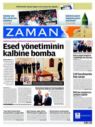Gazete Manşetleri - 19 Temmuz 2012 25