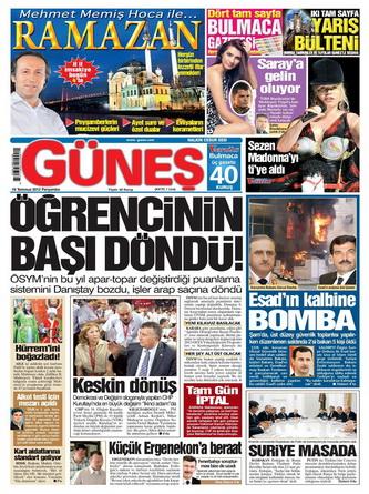 Gazete Manşetleri - 19 Temmuz 2012 5