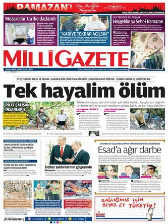 Gazete Manşetleri - 19 Temmuz 2012 8