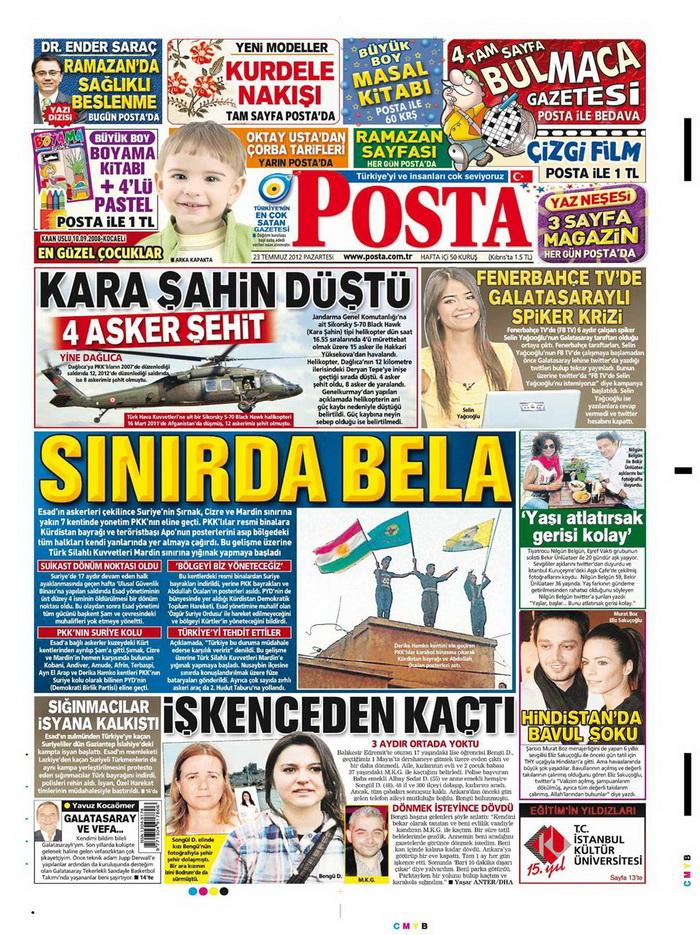 Gazete Manşetleri - 23 Temmuz 2012 12
