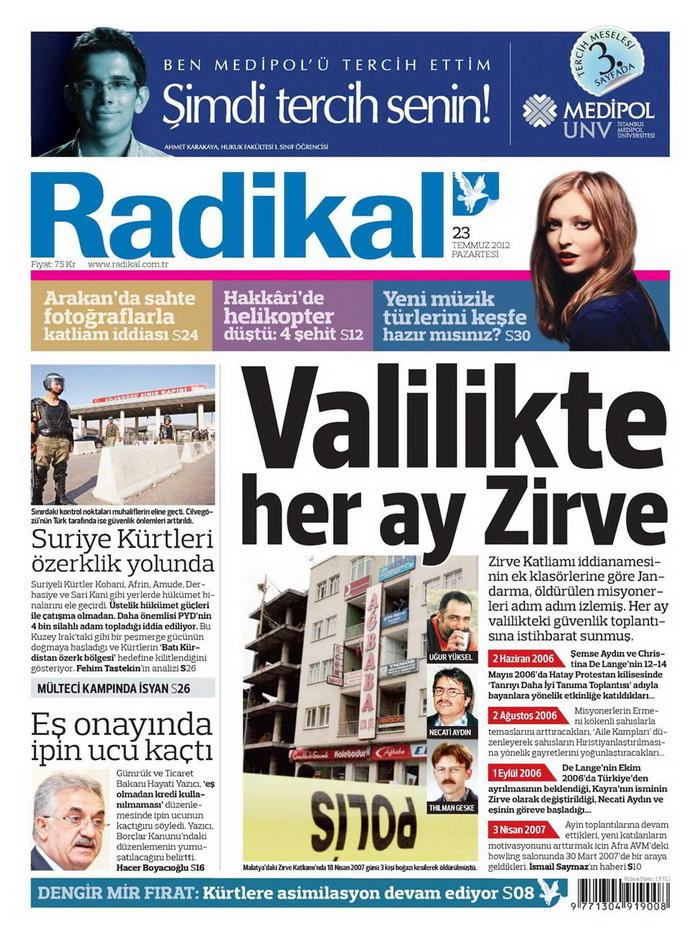 Gazete Manşetleri - 23 Temmuz 2012 13
