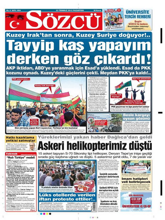Gazete Manşetleri - 23 Temmuz 2012 15