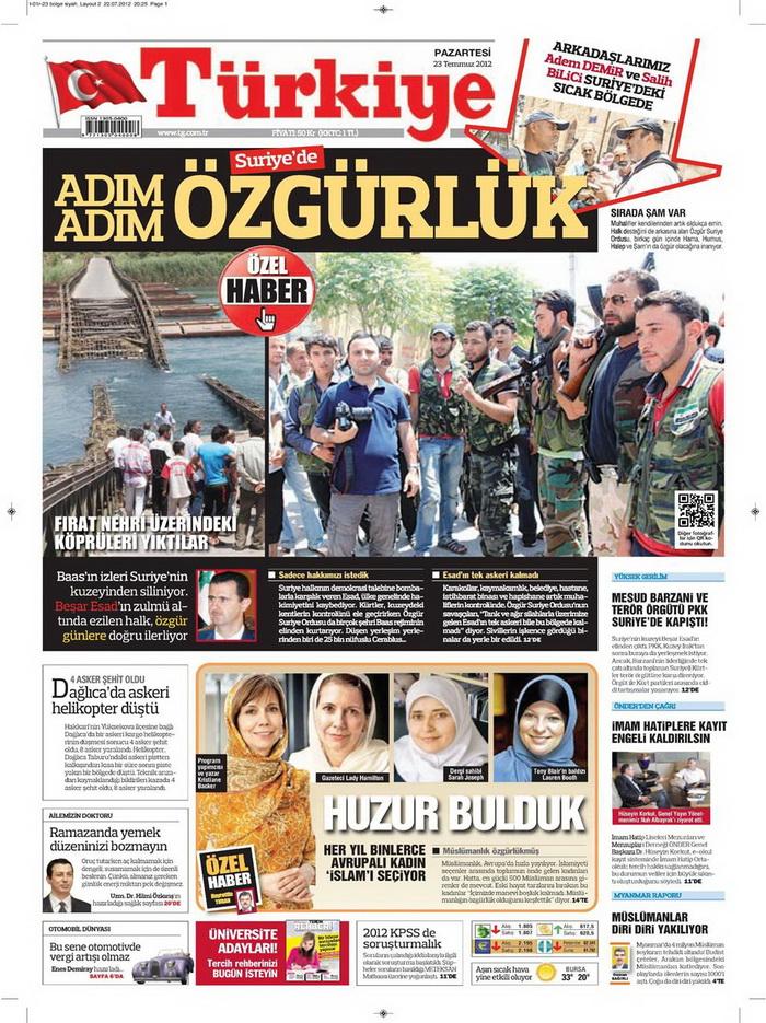 Gazete Manşetleri - 23 Temmuz 2012 19